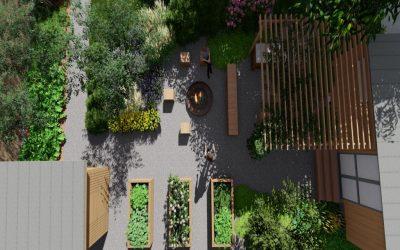 zahrada s maringotkou